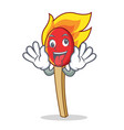 crazy match stick mascot cartoon vector image