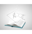 Doodle hand writes on a piece of paper vector image