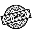 Eco Friendly rubber stamp vector image