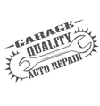 garage quality vector image