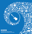 Guitar icon sign Nice set of beautiful icons vector image