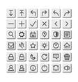 line thin icon button vector image