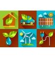 Modern flat design conceptual ecological vector image
