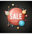 Sale advertising banner layout special big offer vector image