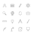 School education outline icons vector image