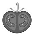 Tomato icon gray monochrome style vector image
