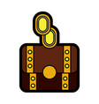 video game treasure chest coin money vector image