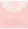 Vintage lace background ornamental flowers vector image vector image