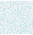 Seamless pattern - different numbers vector image