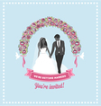 Wedding invitation flower arch vector image