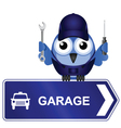 Garage Sign vector image vector image