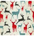 Christmas wooden reindeer pattern vector image