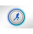 circle blue with runner vector image vector image