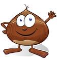 chestnut cartoon vector image