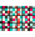 Seamless Square Pattern - Abstract Retro Squares vector image