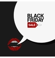 Black Friday sale speech bubble background vector image