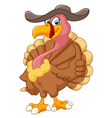 Cute turkey cartoon giving thumb up vector image