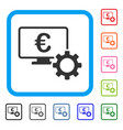 euro online bank configuration framed icon vector image