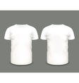 Mens white t-shirt short sleeve vector image
