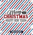 Merry Christmas and Happy new year card on a vector image