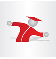 student with shirt symbol vector image