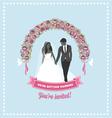 Wedding invitation flower arch vector image