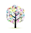 Flower of Life Art tree sketch for your design vector image