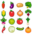 Vegetables Icon Set vector image vector image