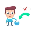 Planned consumer basket vector image