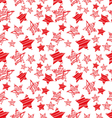 seamless red star pattern vector image vector image
