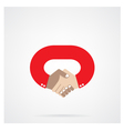 handshake abstract design symbol vector image vector image