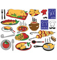 food restaurant vector image
