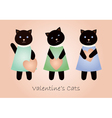 valentine cats vector image vector image