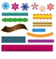 design ribbon banner and flower elements vector image