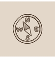 Compass sketch icon vector image