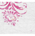 Watercolor background Floral composition vector image vector image
