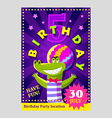 Birthday party poster or flier for kids vector image