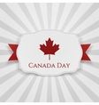 Canada Day Badge with Ribbon vector image