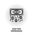 Cost Per Impression Line Icon vector image