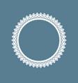 decorative ornamental ring vector image