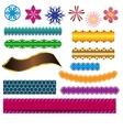 design ribbon banner and flower elements vector image