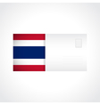 Envelope with Thai flag card vector image