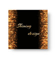 greeting card with golden shine vector image