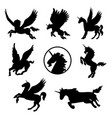 horse animal pet mammal tattoo vector image