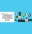 pc diagnostics service banner horizontal concept vector image
