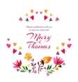 Save the date love card with watercolor flowers vector image