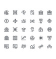 set of thin line cryptocurrency icons vector image