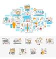 Digital Marketing Linear Concept vector image