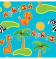 Seamless pattern with cartoon animals - giraffe vector image vector image