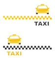 business card with cab vector image